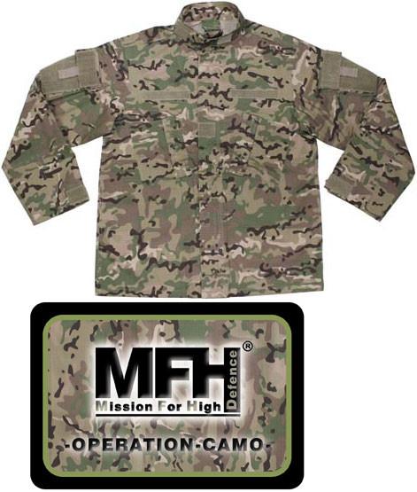 Китель MFH US Field ACU, Rip Stop, operation camo 03383X