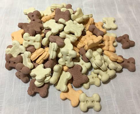 Печенье для собак, косточки микс мини, 65 гр.Lolopets