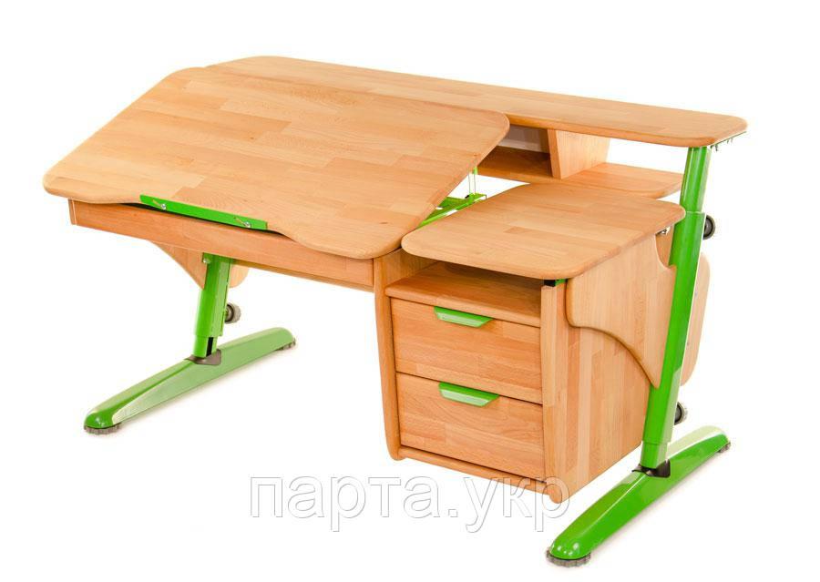 Детский стол с тумбой-2, дерево бук
