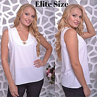 Летняя женская блузка без рукавов