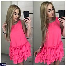 Зеленое платье с воланами, фото 3