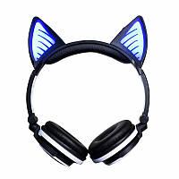Наушники Bluetooth с кошачьими ушками LED-подсветкой, цвета в ассортименте, LINX BL108A  Черные, фото 1