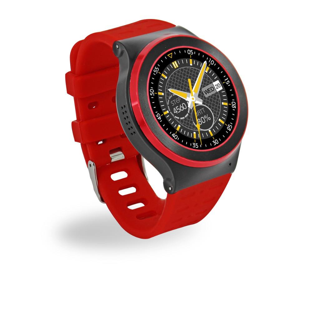 "Умные часы SUNROZ S51 смарт-часы с GPS 1,54"""" 400mAh Красный (SUN0917)"