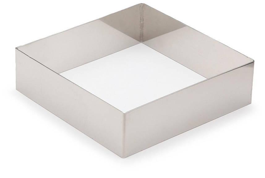 Форма для выпечки без дна 14х14х3 см. квадратная, нержавеющая сталь Lacor
