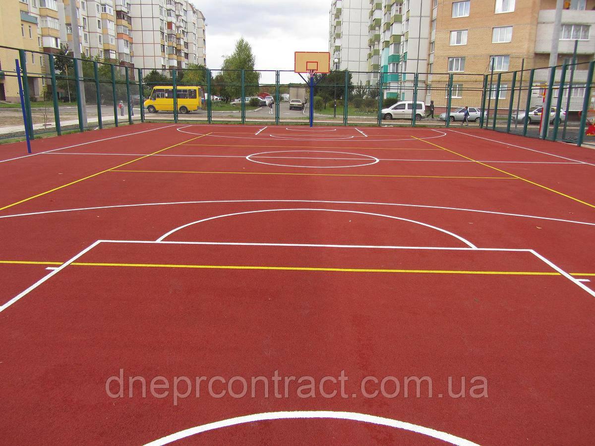 Резиновое наливное бесшовное покрытие для спортивных  площадок Alsatan MF Sport