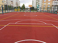 Спортивное полиуретановое покрытие  Alsatan MF Sport для игровых, площадок, теннисных кортов, детских площадок