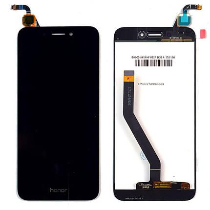 Дисплей (экран) для Honor 6A DLI-TL20 с сенсором (тачскрином) черный Оригинал, фото 2