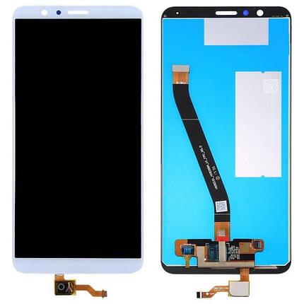 Дисплей (экран) для Honor 7X Dual Sim BND-L21 с сенсором (тачскрином) белый, фото 2