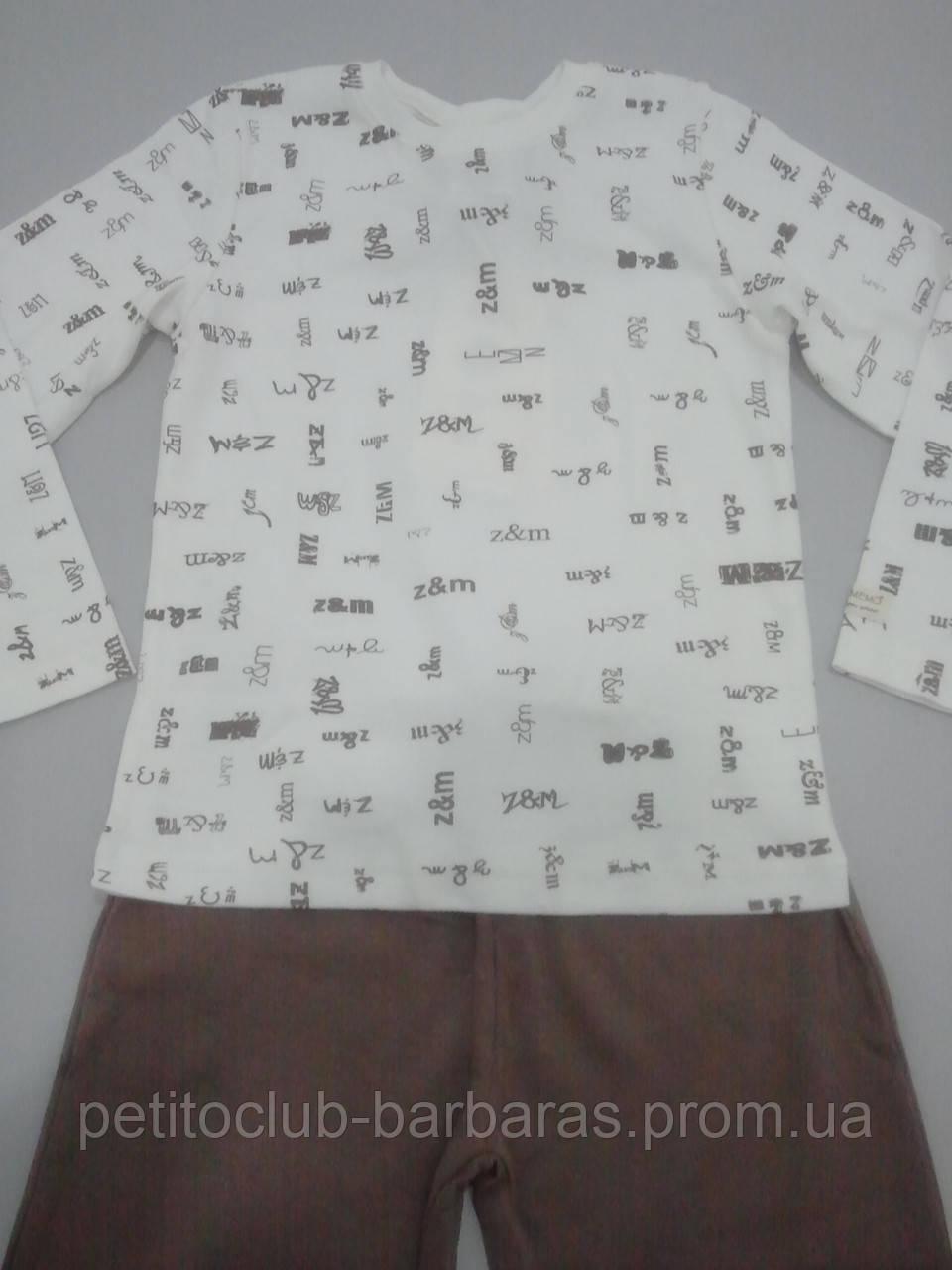 Пижама детская (футболка с длинным рукавом и штаны) (Турция)