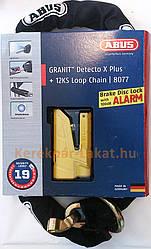 Ланцюг з замком ABUS 8077/12KS120 Granit Detecto X-Plus YELLOW