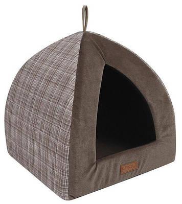 Домик Пирамида Cozy Brown 40х40х35см для собак и кошек