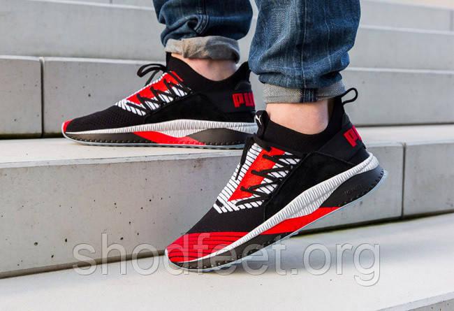 Мужские кроссовки Puma Tsugi Jun Cubism Black White Red