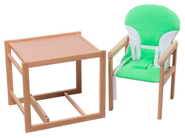 Стульчик- трансформер For Kids Бук-02 светлый пластиковая столешница  зеленый