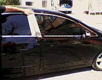 HONDA CIVIC 2006+ Молдинг дверных стоек (6 шт, нерж.)