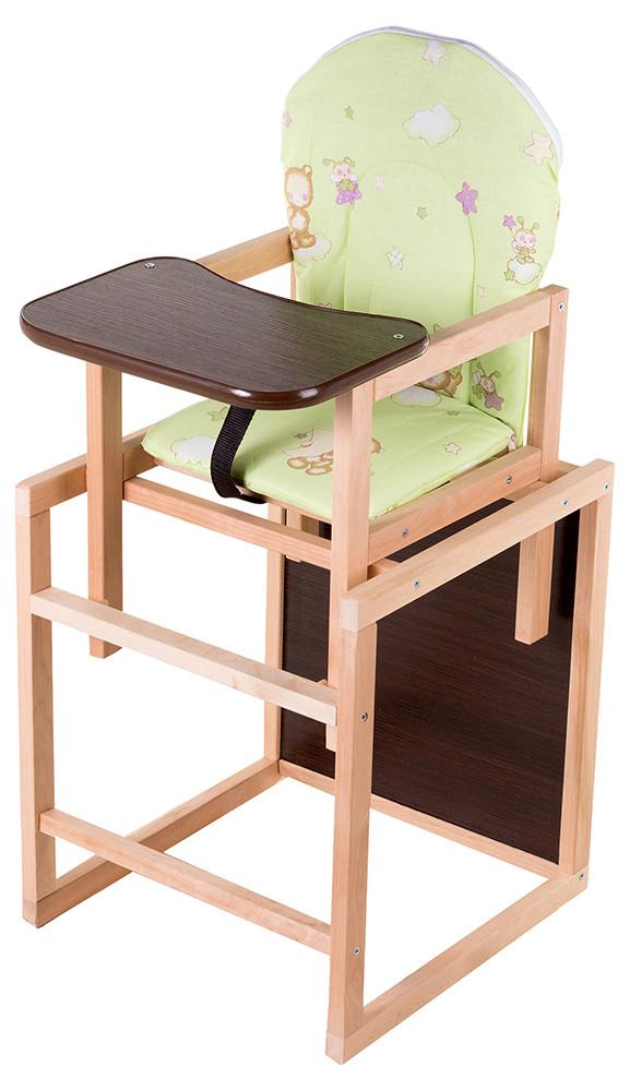 Стульчик- трансформер Babyroom Карапуз-100 eko МДФ столешница  салатовый (мишка, пчелка, звезда)