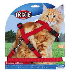 Trixie 41960 Шлейка с поводком для крупных кошек, 34-57см/13мм