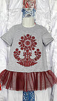 Вышитое детское платье 138-156 рр Код опт53