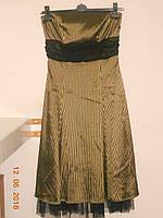 Вечернее платье с драпированным поясом