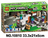 Конструктор Bela 10810 Minecraft Майнкрафт Пещера зомби 250 деталей, фото 1