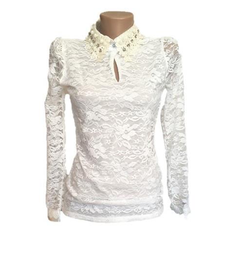 467067de8a3 Кружевная блузка белая нарядная - Купить платье