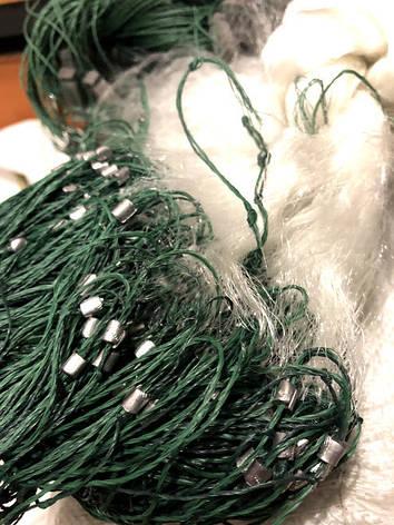 Рыболовная сеть одностенная 3м\85м, груз дробинка (свинец). Ячейка 35мм, фото 2