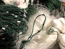 Рыболовная сеть одностенная 3м\85м, груз дробинка (свинец). Ячейка 120мм, фото 3