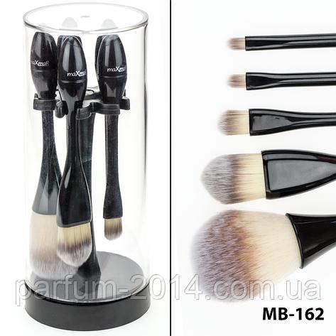 Набор кисточек для макияжа на подставке 5 инструментов maXmar MB-162 , фото 2