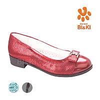 Школьные красные  туфли для девочек Tom  (размер 32-37)