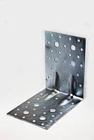Уголок крепежный усиленный перфорированный 100х100х100  (2 мм) оцинкованный