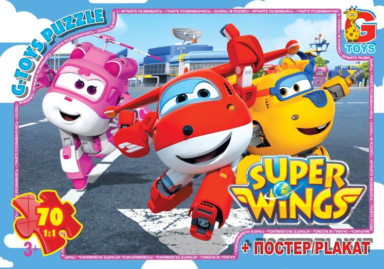 """Пазли ТМ """"G-Toys"""" із серії """"Супер крила"""", 70 елементів UW222"""
