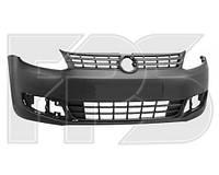 Бампер передний цельнолитой для volkswagen caddy (фольксваген кадди) 2011-2015. Пр-во Fps.