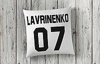 Подушка с фамилией и номером