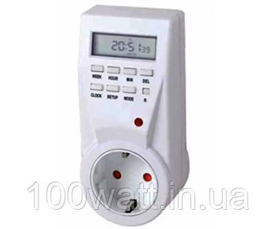 Розетка-таймер недельная с электронным управлением 3680w 16A ST428-1