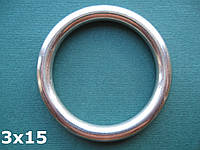 Нержавеющее кольцо 3х15
