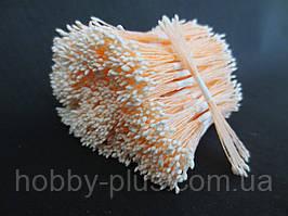 Тайские тычинки, БЕЛЫЕ, мелкие на персиковой нити, 23-25 нитей, 50 головок