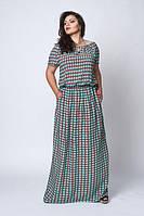 Легкое платье  большого размера 504-2