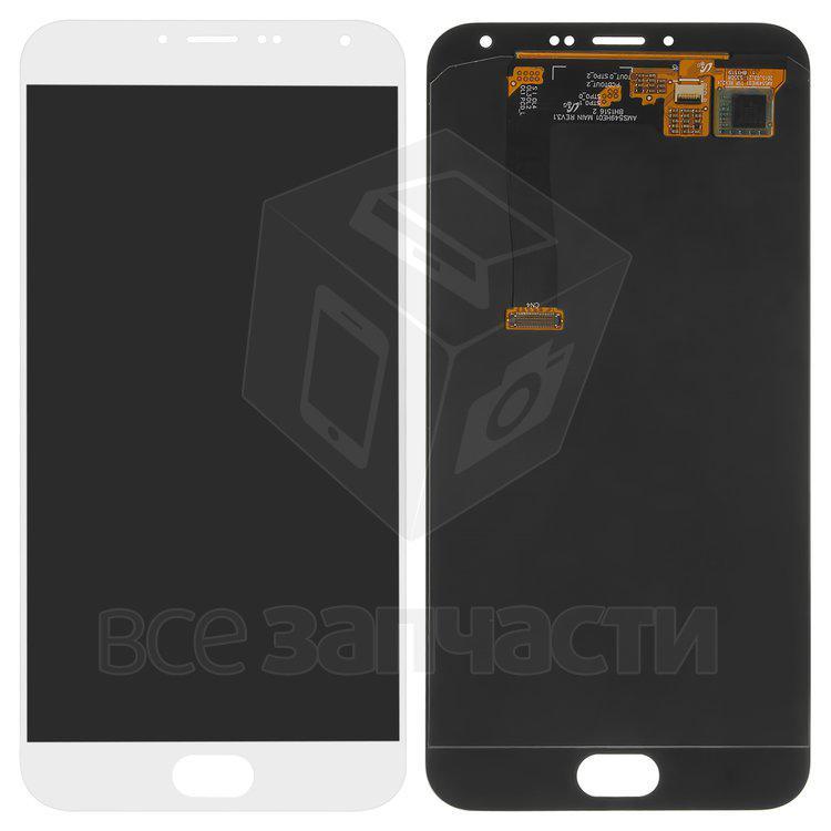 Дисплейный модуль для мобильного телефона Meizu MX5e, белый Original (