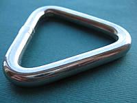 Нержавеющее кольцо сварное полированное, треугольное.