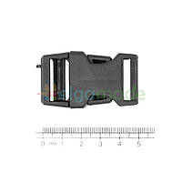 Застежка пластиковая фастекс ЧЕРНАЯ, 50х30 мм, 1 шт