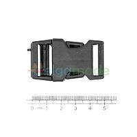 Застежка пластиковая фастекс ЧЕРНАЯ, 50х30 мм, 1 шт, фото 1