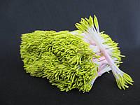 Тайские тычинки, ОЛИВКОВЫЕ, удлиненные на белой нити, 23-25 нитей, 50 головок