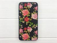"""Чехол-накладка с 3D стеклом """"Розы в черном"""" для Xiaomi Redmi 5A"""
