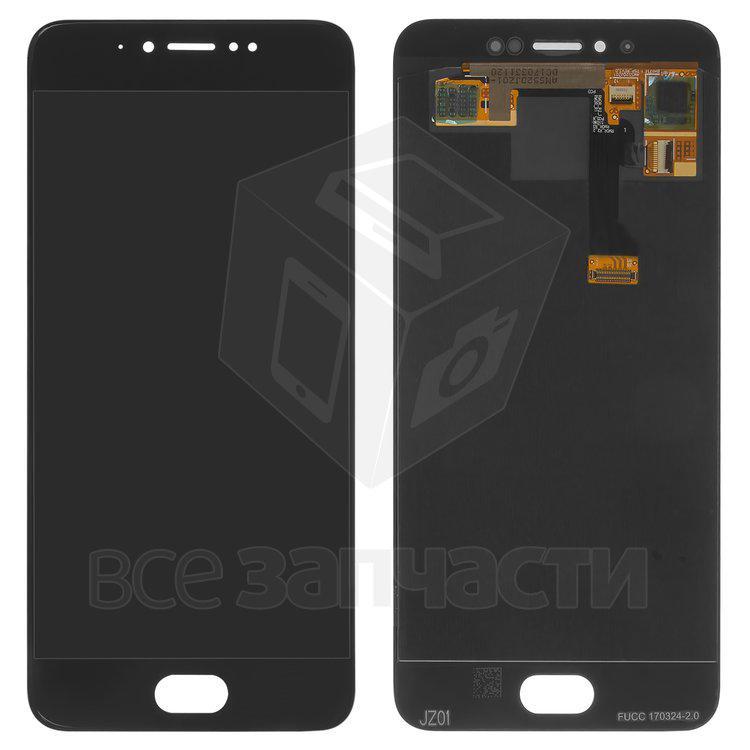 Дисплейный модуль для мобильного телефона Meizu Pro 6s, черный Origina