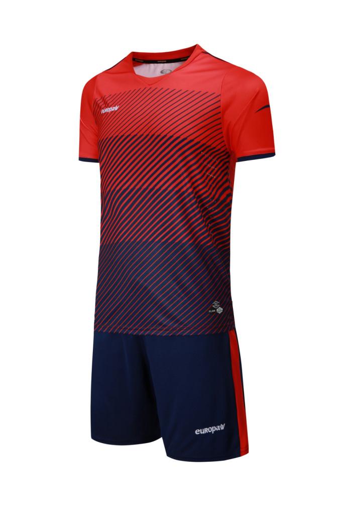Футбольная форма Europaw 017 красно-т.синяя