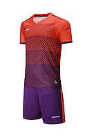 Футбольная форма Europaw 017 оранжево-фиолетовая