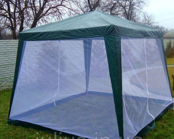 Садовая палатка шатер тент с москитной сеткой 3 х 3 м