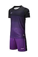Футбольная форма Europaw 017 черно-фиолетовая
