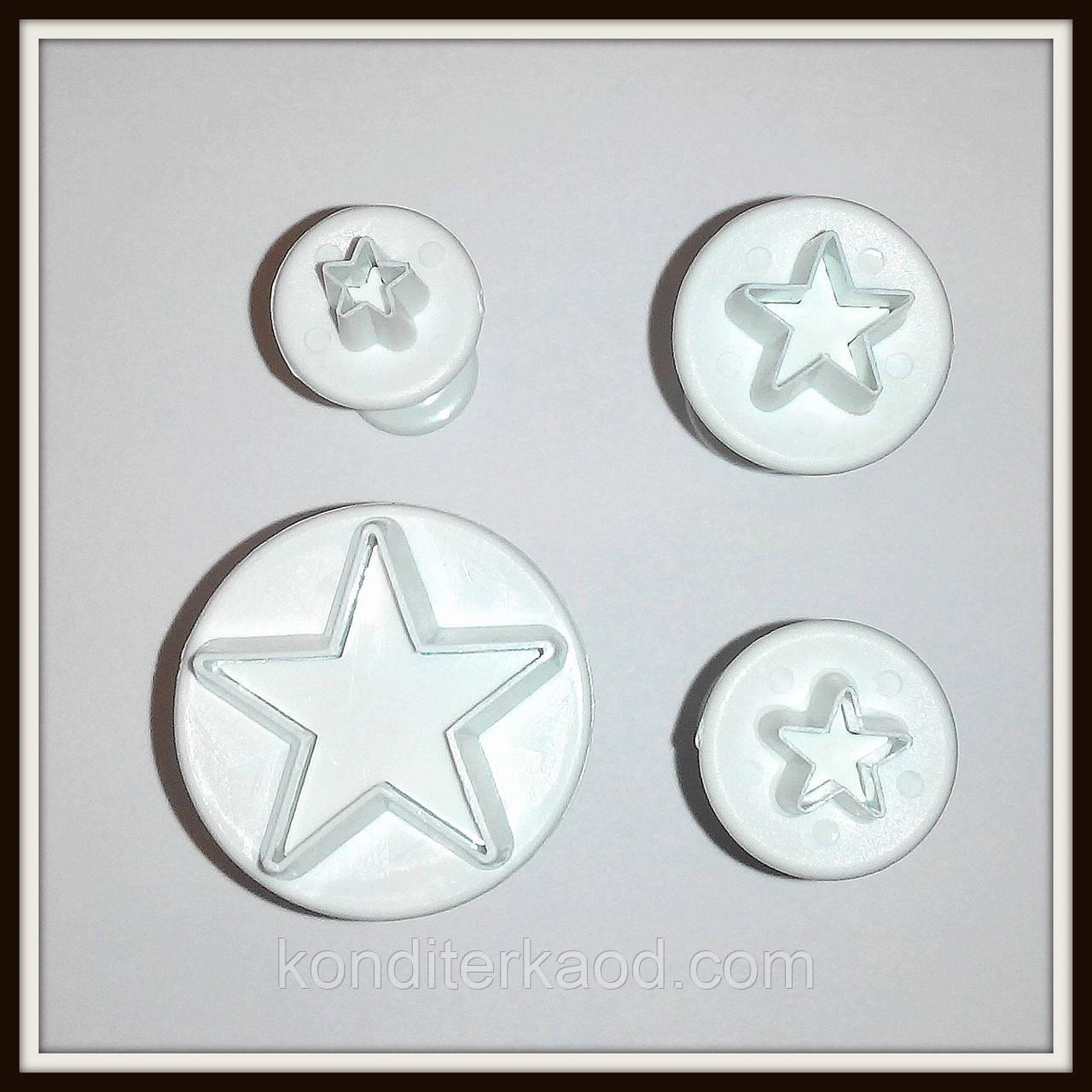 Плунжер Звездочки 4  шт (кнопка)