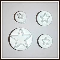 Плунжер Звездочки 4  шт (кнопка), фото 1