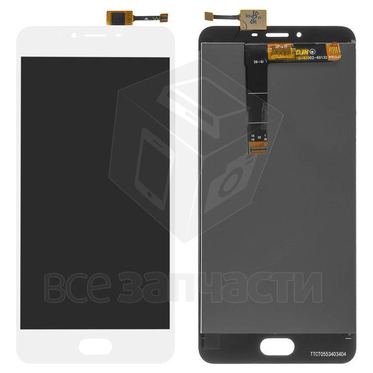 Дисплейный модуль для мобильного телефона Meizu U20, белый, original (